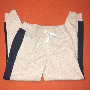 H&M Boys Jogger Pants Gray& Navy Size 8-9Y